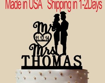 Man Cook And Woman Cook Cake Topper, Personalized Cake Topper, Wedding Cake Topper,  Shower Topper, Wedding Decoration, Silhouette,  CT194