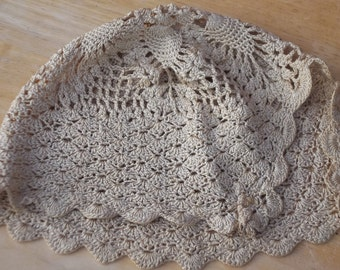 Vintage Crocheted Baby Bonnet