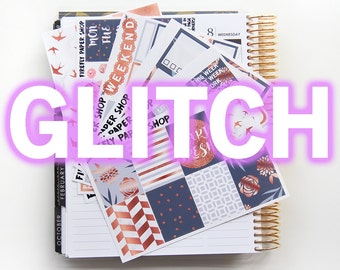 GLITCH - Start Fresh Weekly Kit (Erin Condren Life Planner - Vertical)