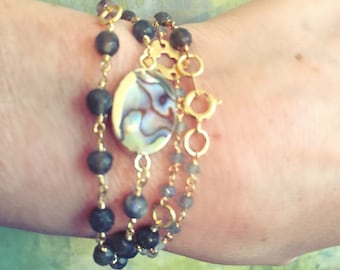 Rosary chain wrap bracelet with extender