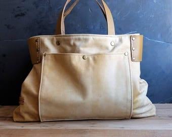 Leather bag, camel color