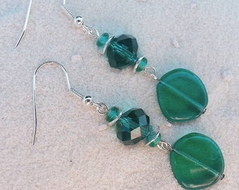 Emerald with Teal and Silver