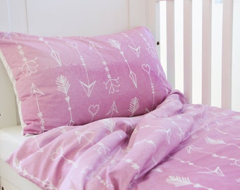 Arrow Duvet Cover - Crib Duvet Cover - Girls Duvet Cover - Toddler Bedding - Crib Bedding