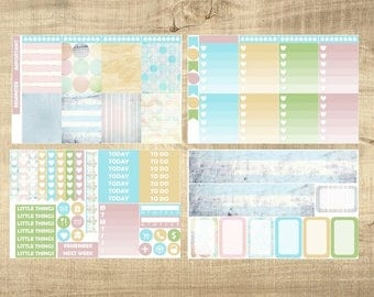 Shabby Chic 4 Page Weekly Kit for Erin Condren Vertical LifePlanner