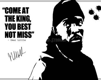 Omar Little The Wire Quote Art Photo Print Poster