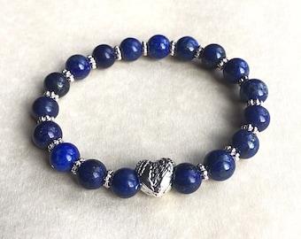 Lapis Lazuli Natural Gemstone Bracelet,gemstone jewellery,crystal healing,spiritual jewellery,spiritual gifts,riki charged,gemstone gifts