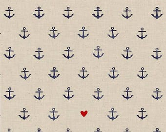 Cotton + Steel SS Bluebird You're My Anchor Natural Fabric, Anchor Fabric, Cotton and Steel Fabric, Fat Quarter, Fabric by the Yard