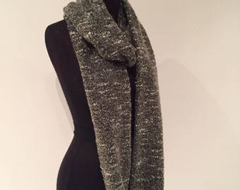 Olive Boucle infinity scarf 266cm full loop