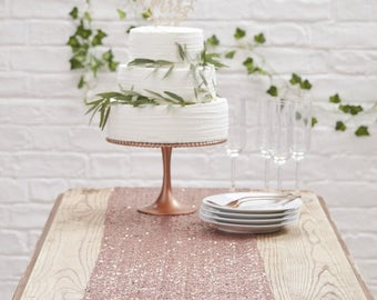 Beautiful Rose Gold Sequin Table Runner | Wedding Decor | Rose Gold Table Runner