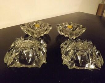 4 old Luxhem Crystal ashtrays