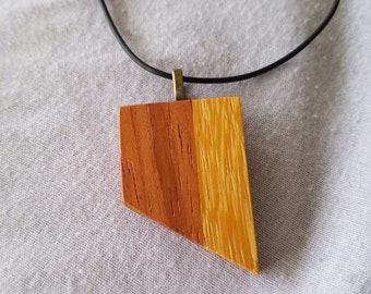 Exotic Marble Wood and Brazilian Cherry Pendant #2