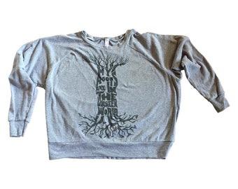 My Roots Are In The Unseen World- American Apparel-Raglan Sweatshirt-Raglan-Sweater-Typography-Raglan Tee-Raglan T-shirt