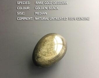 Medium Yoni Egg Rare! One of a Kind Golden Sheen Obsidian Yoni Jade Egg  Kegel Yoni Egg, Kegel Weights,Vaginal Tightening and Meditation