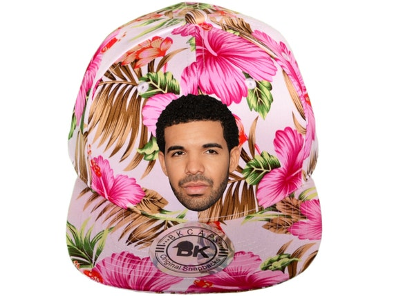 Drizzy Drake Pink Or Blue Floral Snapback Hat