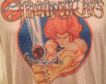 Vintage 80's Thundercats TV Show Lion O T-Shirt Size S