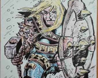 The Mighty Thor - John Romita Jr Style - Ink and Color by Dario Di Donato