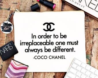 Coco Chanel Personalized Makeup Bag Custom Graduation Gift Personalized Bridesmaids Gift Fashion Lover Bag Cosmetic Bag Custom Travel Bag