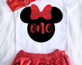 Minnie Mouse 3 piece set +TUTU