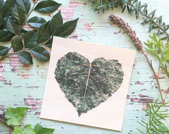 Wooden Cards, Botanical Cards, Botanical Print, Gift Cards, Leafy Card, Wood Cards, Wood Art, Wood Print, Valentine's Day Card, Love Card