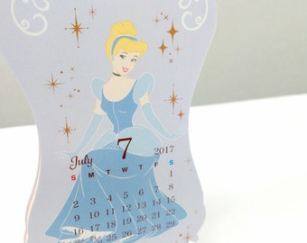 SALE!!2017 Calendar , Disney Princess , Princess , Stand Calendar , Cinderella , Ariel , Belle , Jasmine , Snow White , Rapunzel