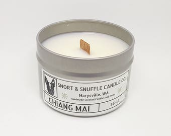 Chiang Mai- 4OZ- Scented Candle- Soy Candle- Wood Wick Candle- Charity Candle- Rainforest- Coconut Candle- Man Candle- Tropical Candle
