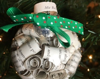 Me Before You Jojo Moyes Book Page Christmas Ornament