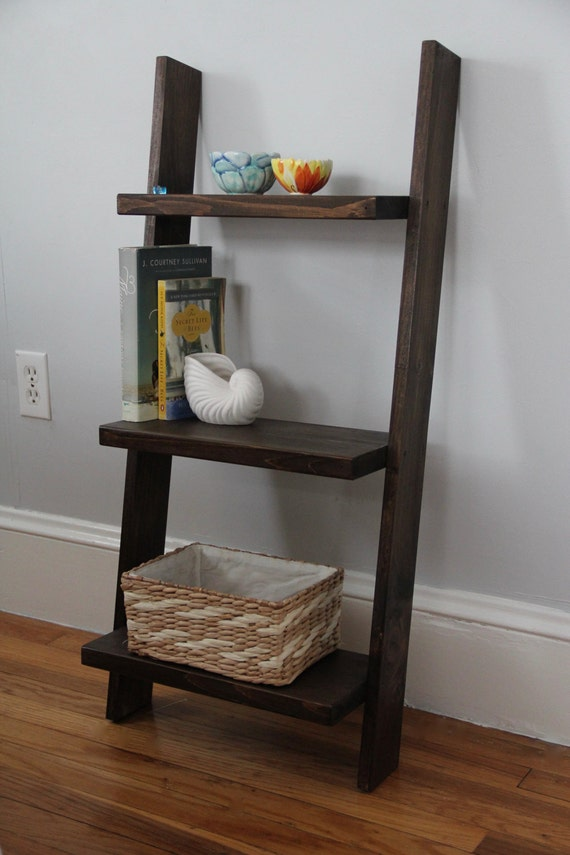 leaning ladder shelf bedside table leaning book shelf