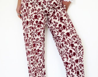Printed cotton summer pants