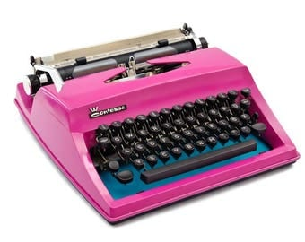 Hot pink typewriter, Contessa