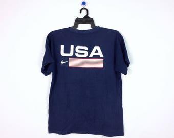 Vintage Nike USA Big Logo Shirt L Size / Nike Swoosh / Nike Jacket / Nike Hoodie / Big Swoosh / Nike Big Logo / Hip Hop / Swag / Nike Jersey