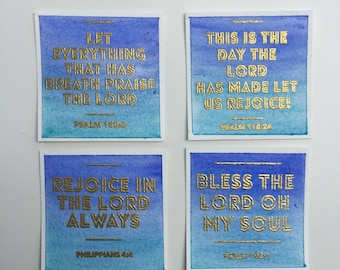 Bible verse cards - Set of 4