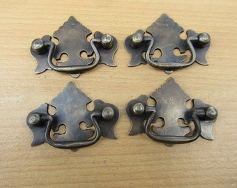 Lot of 4 pcs Vintage Classic Crown Dresser Pull,Antique Brass Drawer Handle KN14A