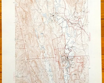 antique proctor vermont 1946 us geological survey topographic map pittsford hubbardton castleton