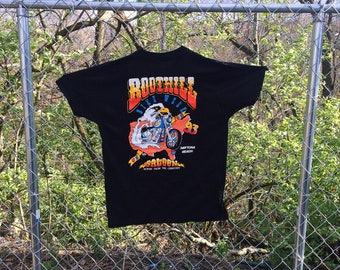 Vintage Boot Hill Saloon 1993 Bike Week Tee Size Extra Large