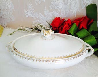 N.T.& K Co. Ramona Pattern Vintage Serving Dish With Lid