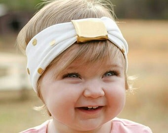 Gold baby headband/ baby headband/ toddler headband/ newborn headband/ baby girl headband/ baby turband headband/ headbands/