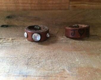 Custom Leather Ring