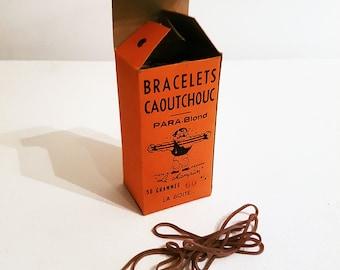1950s French Elastics Bracelets Caoutchouc Rubber Bands