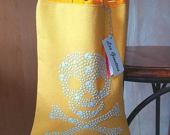 """Tote bag child """"skull"""". 100% cotton."""
