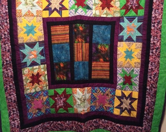 Beautiful batik quilt