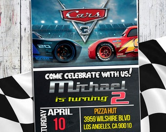 Disney Cars 3  Invitation, Cars 3 Invitation, Disney Cars 3 Birthday Invitation, Cars 3 Birthday, Cars Party