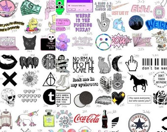 350+ stickers, you choose! Tumblr, grunge, indie...