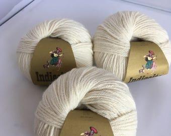 Indiecita DK 100% Luxurious Baby Alpaca Yarn, Ivory Color