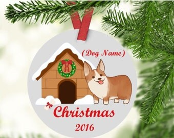 Corgi Christmas Ornament -Corgi Ornament - Corgi First Christmas Ornament -Corgi - Dog Ornament