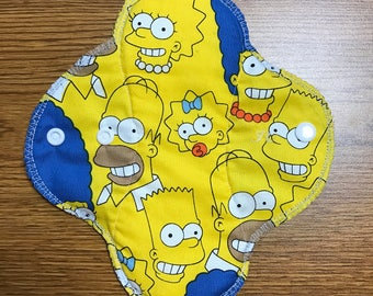 8 inch REGULAR Absorbency Reusable Cloth Pad - The Simpsons