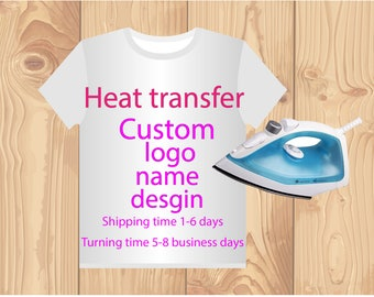 custom printing heat transfers for t shirts