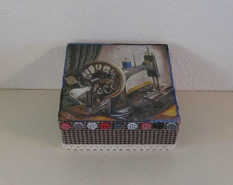 Holz-Box Knopf