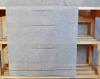 Handwoven linen table runner