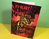 My Heart Is Yours - Gothic Horror Valentine's Card