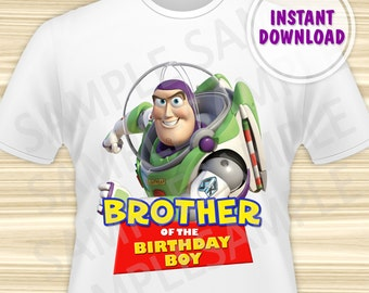 Toy Story Brother of the Birthday Boy Iron On. Toy Story Iron On Transfer. Toy Story Birthday Shirt. Toy Story Party. DIGITAL FILE.